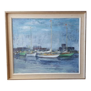 R. Faber Sailboats Painting