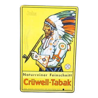 """Vintage Commercial """"Crüwell-Tabak"""" Tobacco Advertising"""