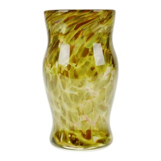 Hand-Blown Art Glass Vase or Cup