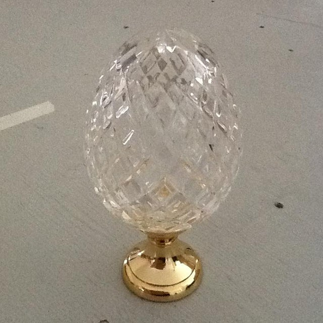 Image of Crystal Newel on Brass Base