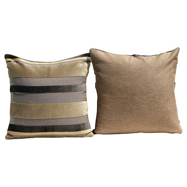 Gaston y daniela velvet stripe pillow covers a pair - Gaston y daniela ...