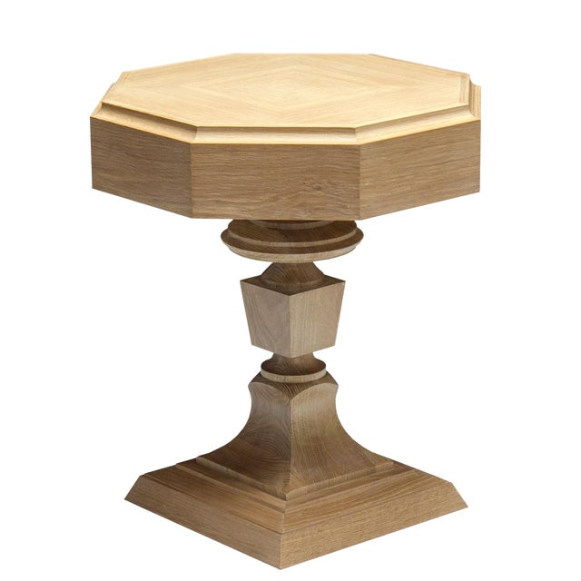 "Truex American Furniture Light Oak ""Rook"" Side Table - Image 1 of 2"