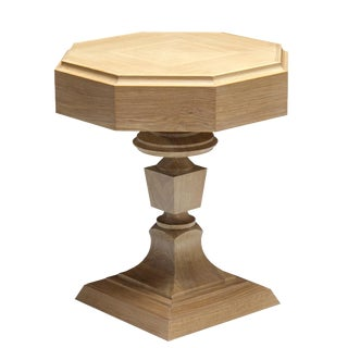 """Truex American Furniture Light Oak """"Rook"""" Side Table(Available as a Pair)"""