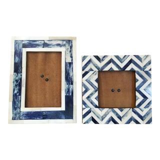 Indian Inlaid Cobalt Frames - A Pair