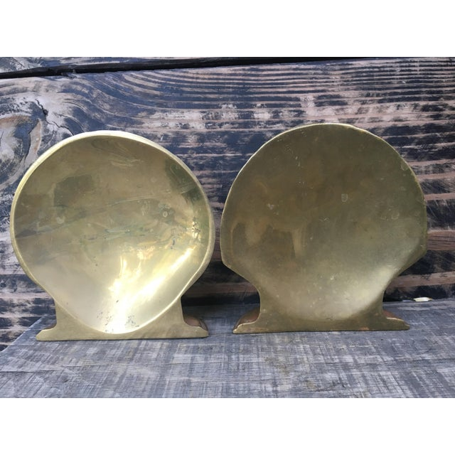 Vintage Brass Shell Bookends - A Pair - Image 5 of 7
