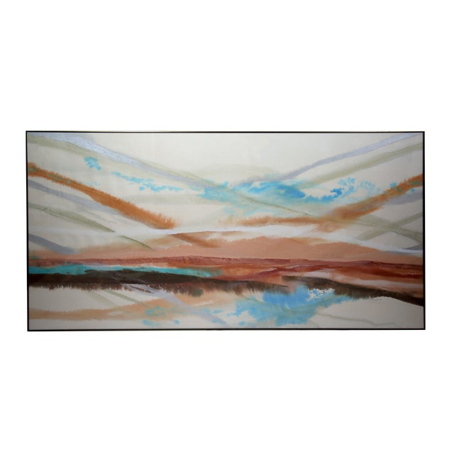 Large Watercolor Painting - Image 1 of 3
