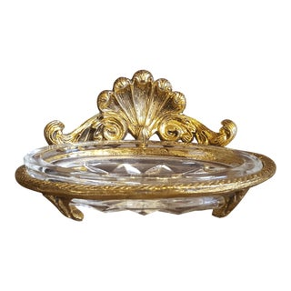 1960s French Ormolu Style Soap Dish