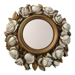 Vintage Mid Century Ornate Syroco Wood Wall Mirror