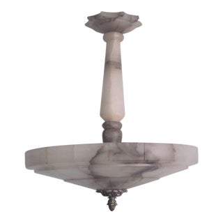Italian Modern Neoclassical Alabaster Pendant or Chandelier