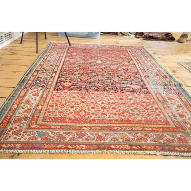 """Image of Distressed Antique Malayer Rug - 4'1"""" X 6'"""