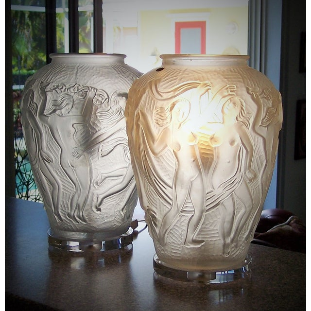 Image of Mid Century Modern Bohemian Czech Lamps - Pair