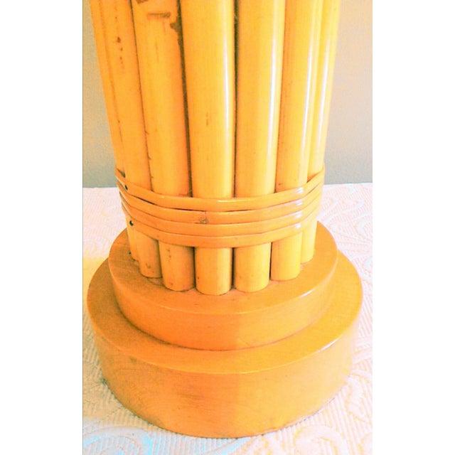 Vintage Regency Style Bamboo Lamp - Image 4 of 8