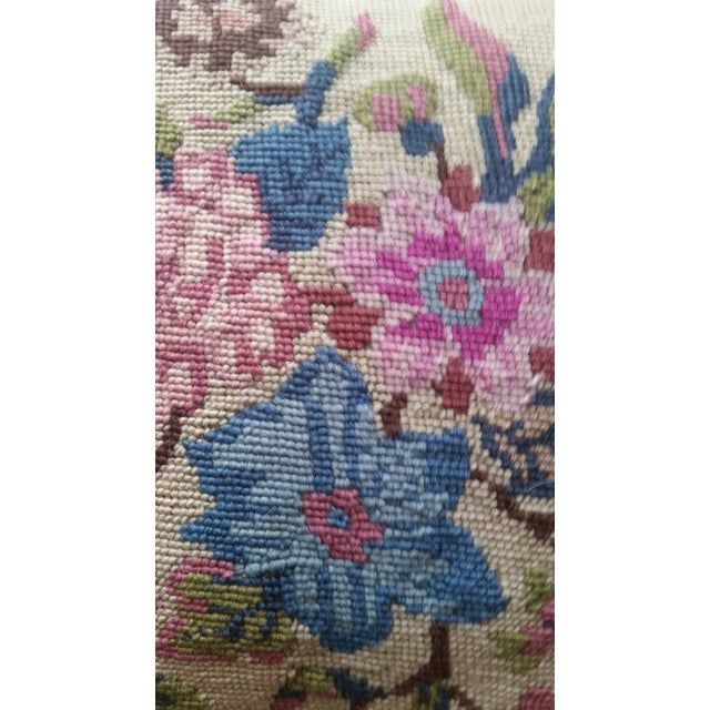 Vintage Needlepoint Pillow - Image 4 of 6