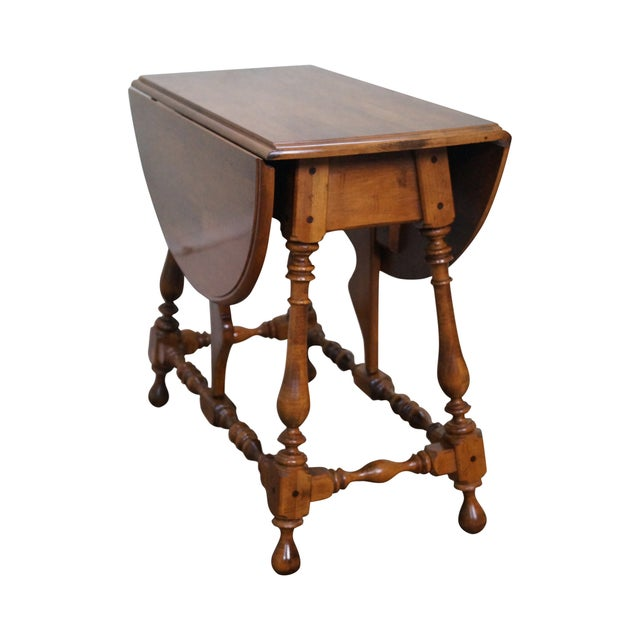 Image of Ethan Allen 1776 Collection Maple Drop Leaf Table