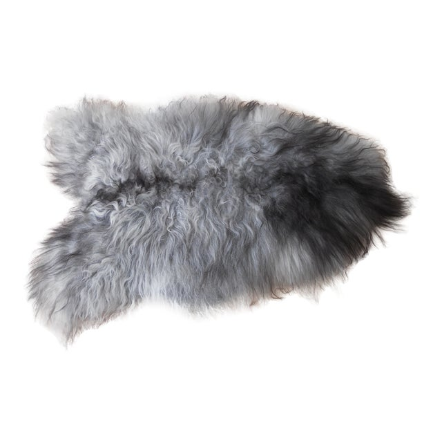 Nordic Gray and Black Sheep Throw - Image 1 of 7