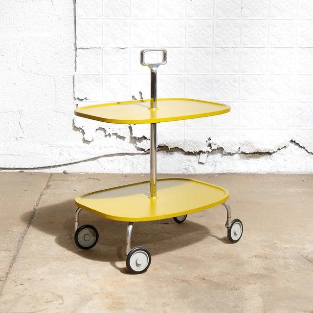 Kartell Italian 2-Tier Trolley Cart - Image 2 of 8
