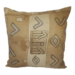 Antique African Kuba Cloth Pillow