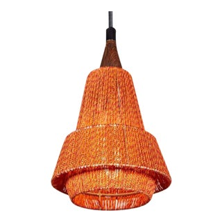 1960s Orange Pendant Lamp, Pair