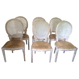 Faux Bois Dining Chairs - Set of 6