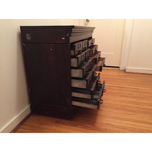 Image of Multi-Drawer Antique Optical Cabinet