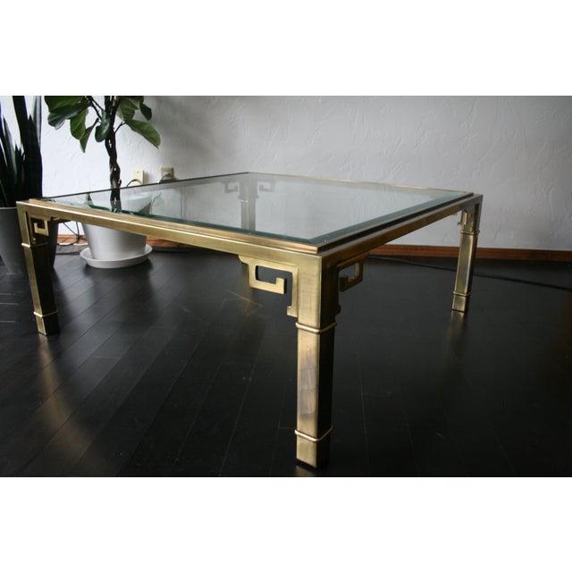 Mastercraft Brass Greek Key Coffee Table