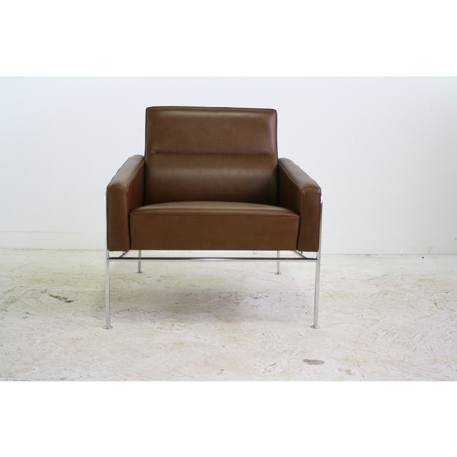 Fritz Hansen Leather Lounge Chair - 6 Avail. - Image 4 of 7