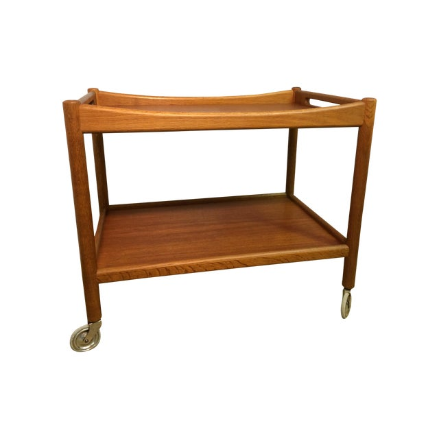 Image of Hans Wegner Danish Modern Bar Cart