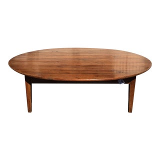 Antique Cherry Wood French Country Coffee Table