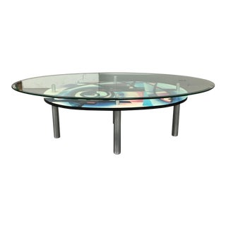Contemporary Two-Tiered Coffee Table
