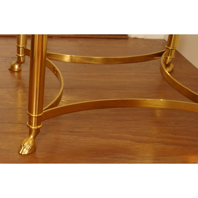 Image of Brass & Glass Hoof Foot Side Table