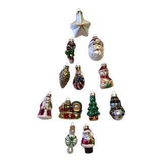Christmas Holiday Figurines Ornaments - Set of 12