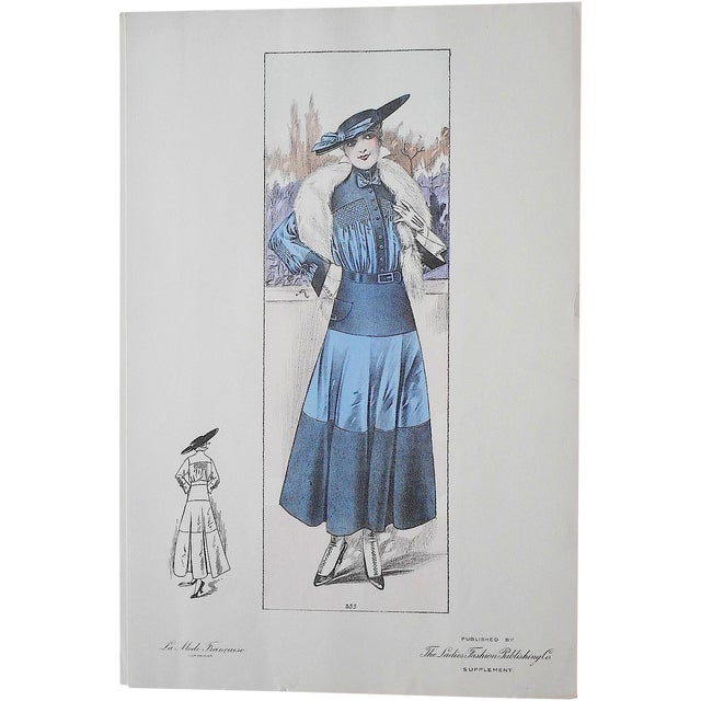 French Fashion Print C.1920 Folio Size - Image 1 of 3