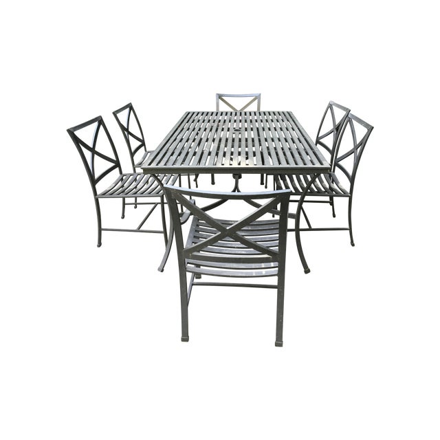 Restoration Hardware Outdoor Dining Table Amp Chairs Chairish