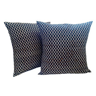 African Print Fabric Pillow Covers - a Pair