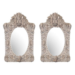 Antique English Bone Mirrors