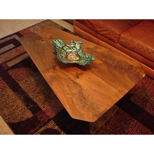 Mid Century Modern Walnut Slab Coffee Table Chairish