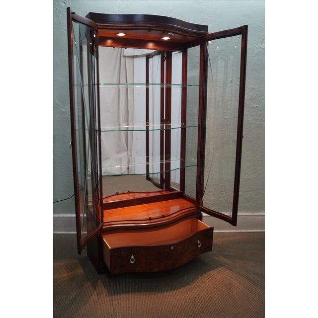Image of Thomasville Bogart Tall Mahogany Lighted Cabinet