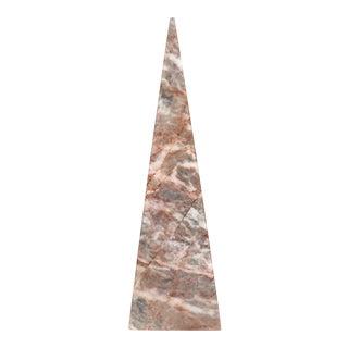 Pink Marble Pyramid Obelisk
