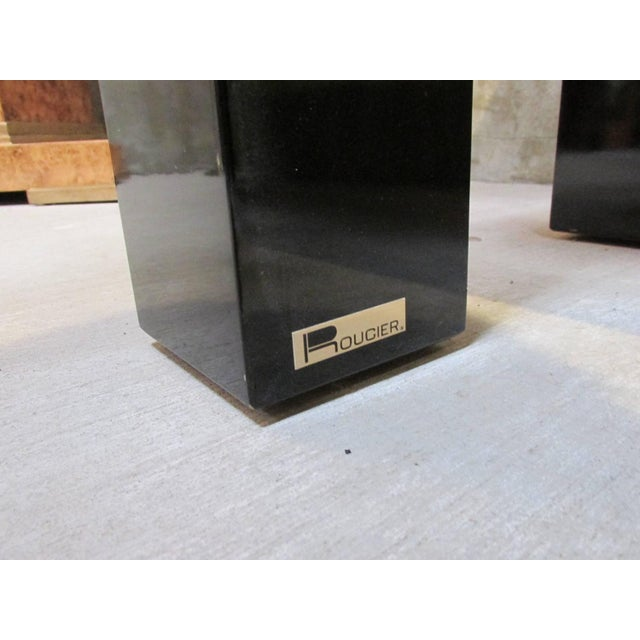 Rougier Regency Style Black Lacquer Console Table - Image 6 of 8