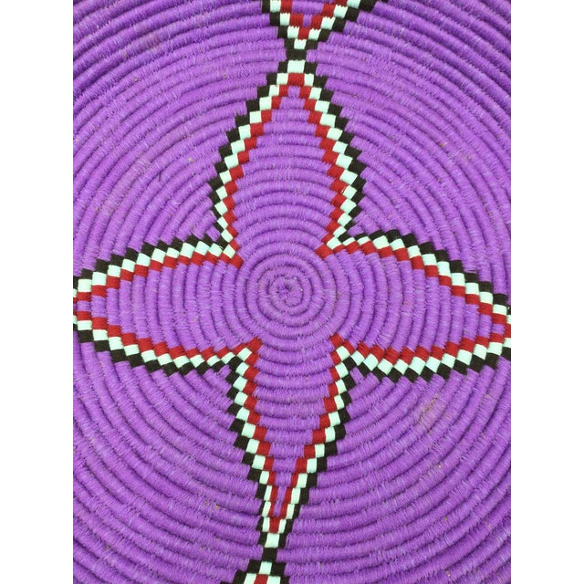 Purple and Red Moroccan Wool Tray - Image 2 of 8