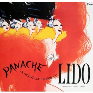 Panache Du Lido Nightclub in Paris Original Vintage Poster