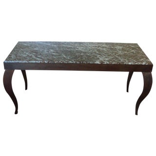 Custom Designed Metal & Marble Console Hall Table