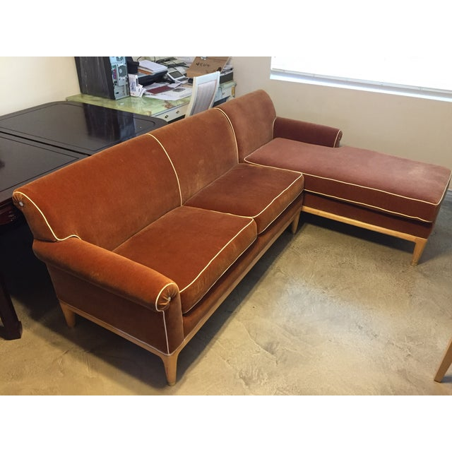 Roger Thomas L-Shape Orange Sectional Sofa - Image 2 of 5