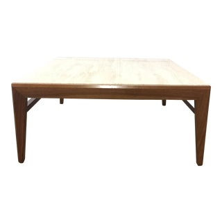 Mid-Century Modern Travertine Topped Coffee Table