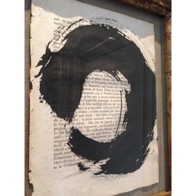 """John Mayberry Painting in Custom Frame - """"Circle"""" - Image 5 of 5"""
