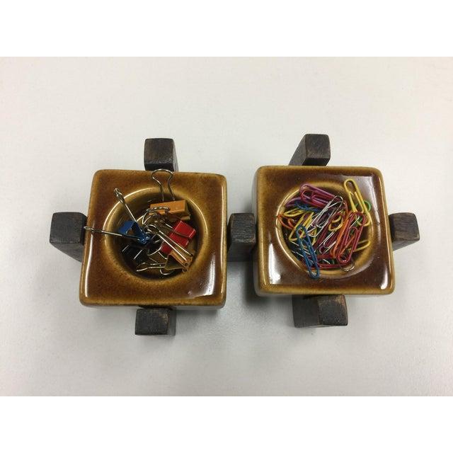Image of Blakeney Ceramic Gold Candleholder