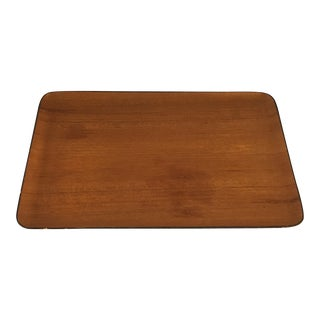 Mid-Century Oil Rubbed Teak Tray