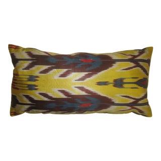 Yellow Ikat Lumbar Pillow