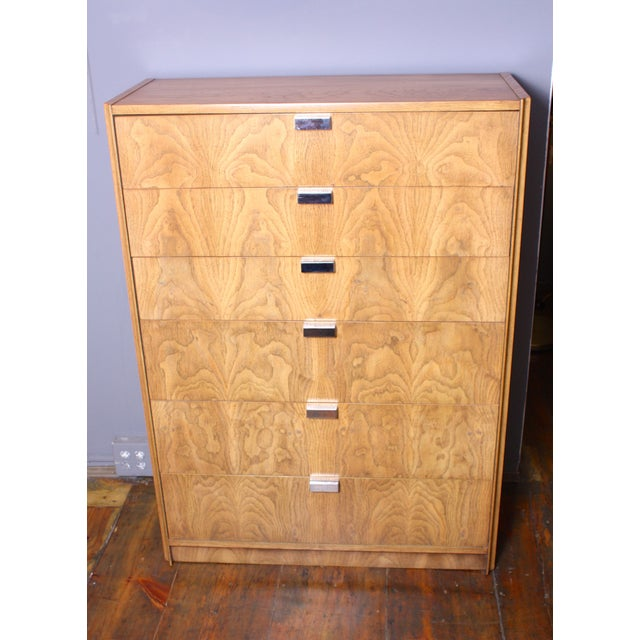 Image of 1970s Ash & Chrome Chest of Drawers by Founders