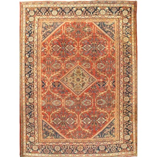 Pasargad N Y Antique Persian Mahal Hand-Knotted Rug - 10′3″ × 13′10″